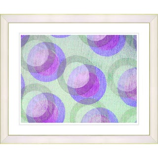 Zhee Singer 'Circle Series - Pastel Plum' White Framed Art Print