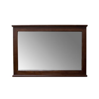 Light Walnut 48-inch Wall Mirror