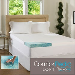 Beautyrest 4-inch Supreme Gel Memory Foam Topper with Cover