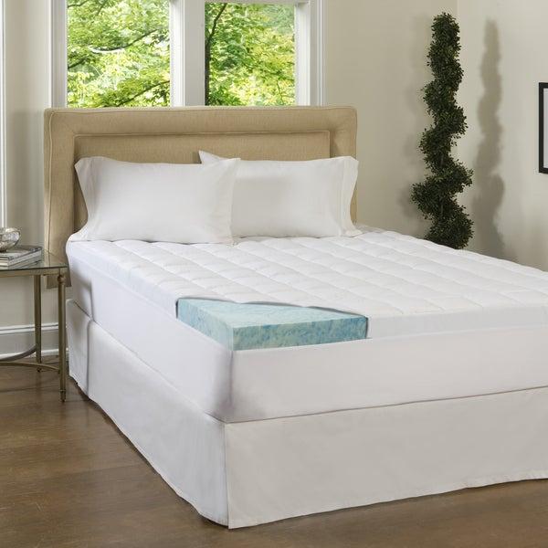 beautyrest 3 inch supreme gel memory foam and 1 5 inch fiber mattress topper. Black Bedroom Furniture Sets. Home Design Ideas
