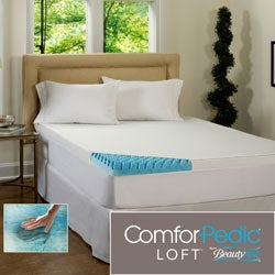 Beautyrest 2-inch Sculpted Gel Memory Foam Mattress Topper with Waterproof Cover