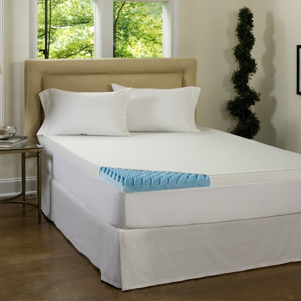 Beautyrest 4-inch Sculpted Gel Memory Foam Topper with Waterproof Cover (As Is Item)