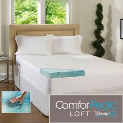 Beautyrest 3-inch Supreme Gel Memory Foam Mattress Topper with Cover