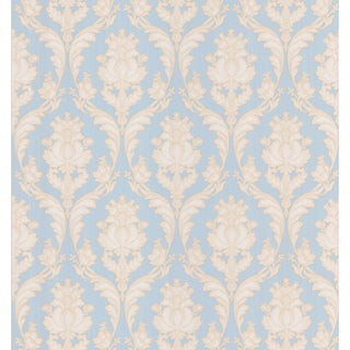 Brewster Light Blue Botanical Damask Wallpaper