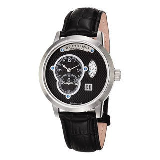 Stuhrling Original Men's Eclipse Apogee Automatic Leather Strap Watch