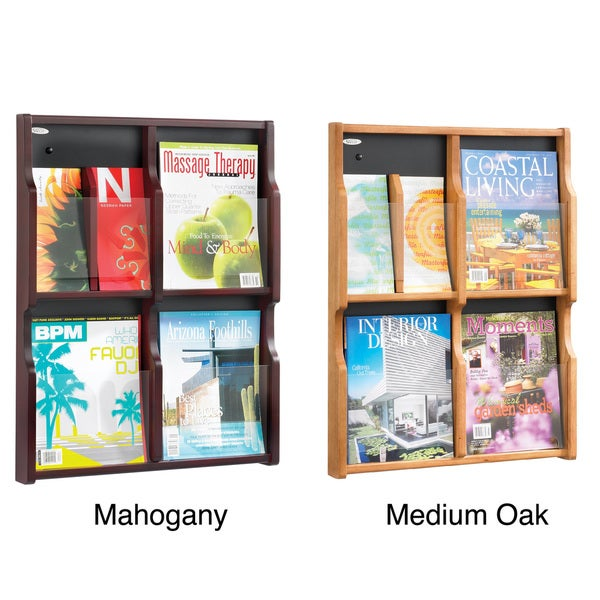 Safco Expose 4 Magazine / 8 Pamphlet Display