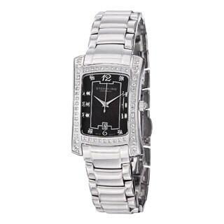 Stuhrling Original Women's Lady Gatsby Classique Quartz Stainless-Steel Bracelet Watch with Black Dial