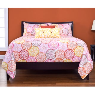 Olivia 4-piece Reversable Duvet Cover Set