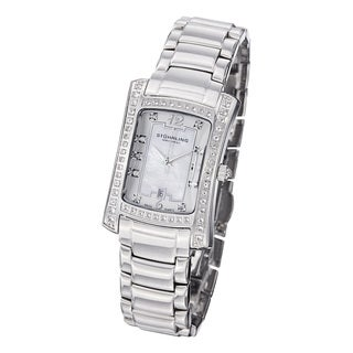 Stuhrling Original Women's 'Lady Gatsby' Classique Quartz Stainless-Steel Bracelet Watch with White Dial