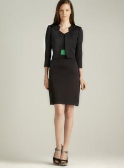 Tahari Emerald Banded Jacket Dress
