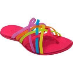Women's Crocs Huarache Flip-Flop Multi/Raspberry
