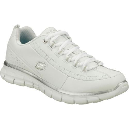 Women's Skechers Synergy Elite Status White/Silver