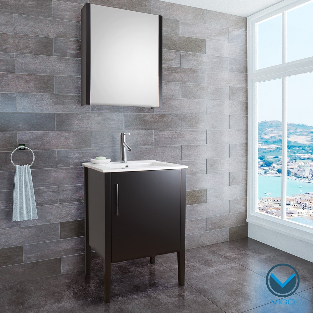 VIGO 24-inch Maxin Single Bathroom Vanity with Mirror