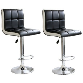 AmeriHome 2-tone Padded Bar Stool (Set of 2)