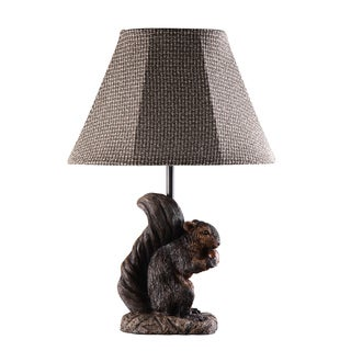 Preparing for Winter Squirrel Lamp