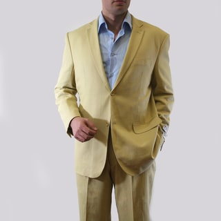 Vitto Men's Tan Linen Suit