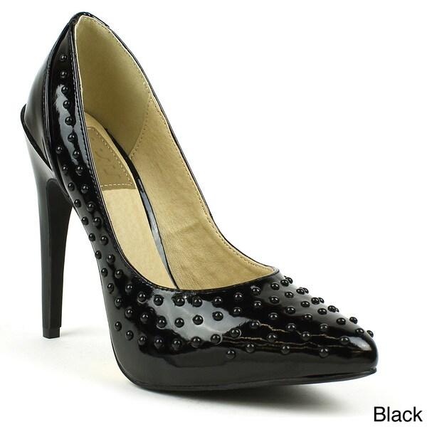 Fahrenheit Women's 'SUNNY-07' Studded Point-toe Heels