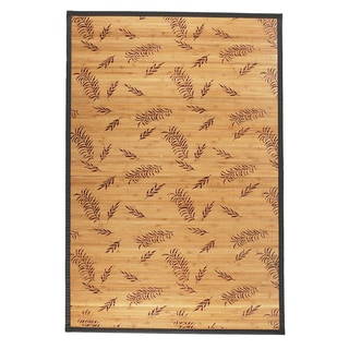 Rayon from Bamboo Area Rug Leaf (4' x 6')