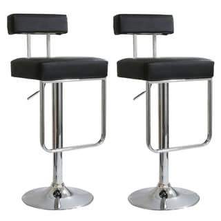 AmeriHome 2-piece Contemporary Padded Bar Stool Set