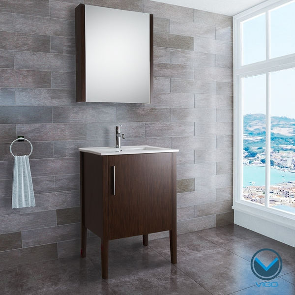 VIGO 24-inch Maxine Single Bathroom Vanity with Medicine Cabinet