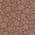 Brewster Red Floral Wallpaper