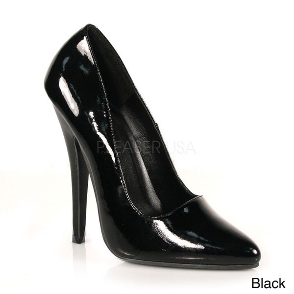 Pleaser Women's 'DOMINA-420' 5-inch Classic Patent Leather Pumps