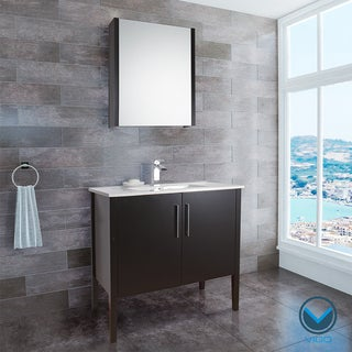VIGO 36-inch Maxine Single Bathroom Vanity with Medicine Cabinet