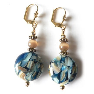 'Benita' Mother of Pearl Dangle Earrings