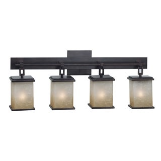 Bathroom Vanity Lights Overstock : Woodbridge Lighting Wayman 4-light Bronze Bath Bar Light Fixture - 14036214 - Overstock.com ...