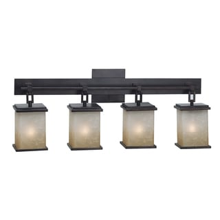 Woodbridge Lighting Wayman 4 Light Bronze Bath Bar Light Fixture 14036214