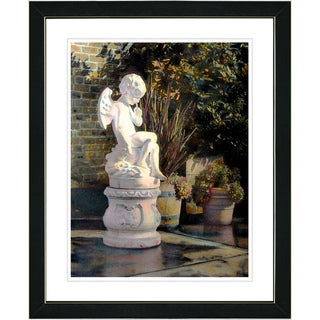 Studio Works Modern 'Garden Angel' Framed Art Print