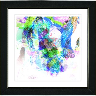 Studio Works Modern 'Rain Dance - Blue' Framed Art Print
