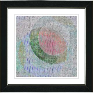 Studio Works Modern 'Moon Shadow - Red' Framed Art Print