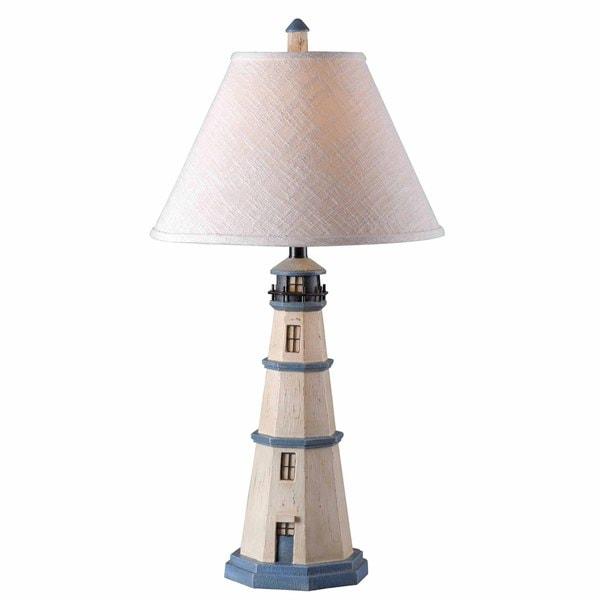 Oreille 1-light Antique White Table Lamp