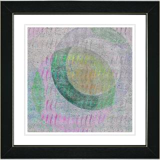Studio Works Modern 'Moon Shadow - Green' Framed Art Print