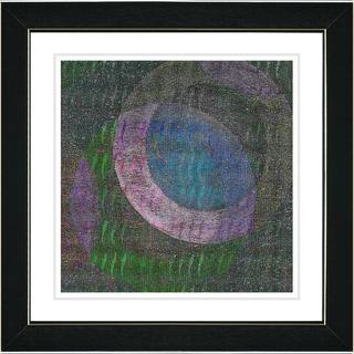 Studio Works Modern 'Moon Shadow - Blue' Framed Art Print
