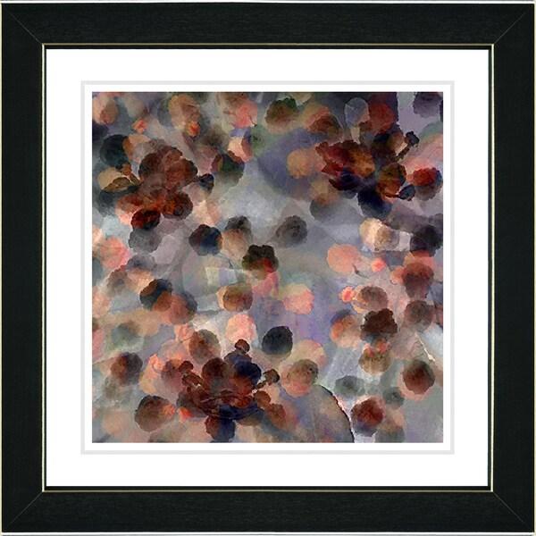Studio Works Modern 'Popcorn Floral - Orange' Framed Art Print