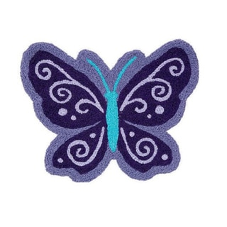 NoJo Beautiful Butterfly Nursery Rug (2'3 x 1'10)