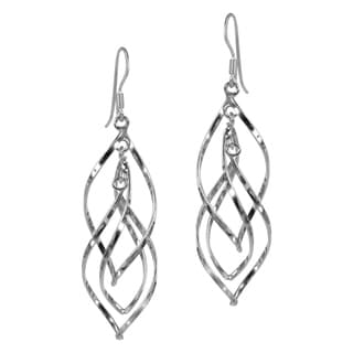 Sterling Silver Gracious Swirling Infinity Earrings (Thailand)