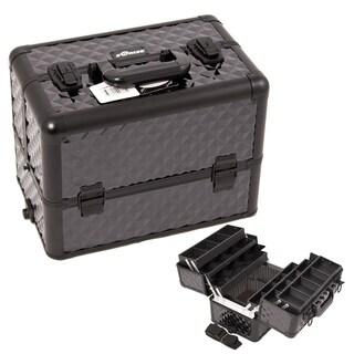 Craft Accents Black 6-Tier Aluminium Craft/ Quilting Storage Case with Dividers