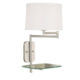 Cassia 1-light Brushed Steel Swing-arm Wall Lamp