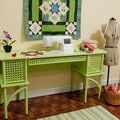 Sewing Rite Pistachio Green Sewing Storage Cabinet