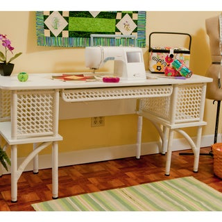 Sewing Rite Adjustable White Sewing Craft Table