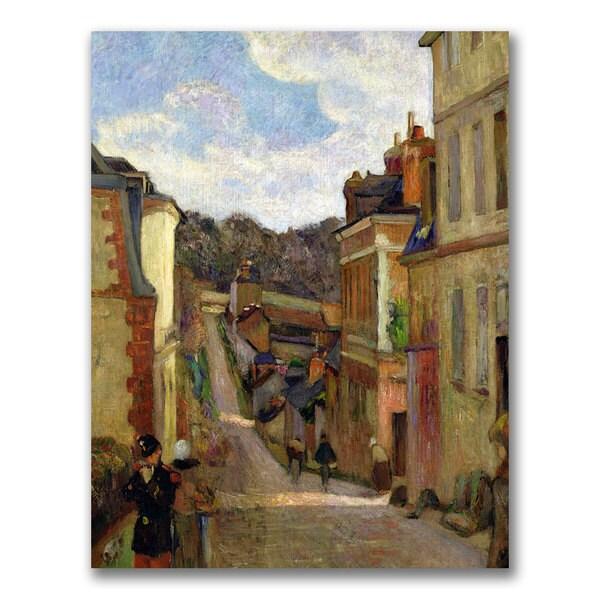 Paul Gauguin 'A Suburban Street' Canvas Art