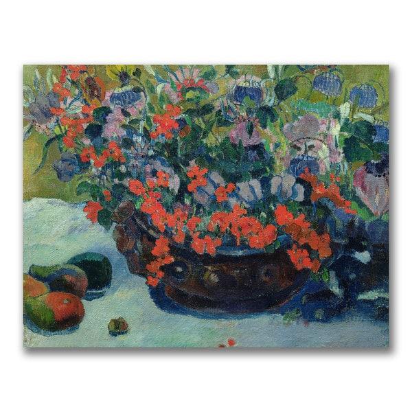 Paul Gauguin 'Bouquet of Flowers 1897' Canvas Art