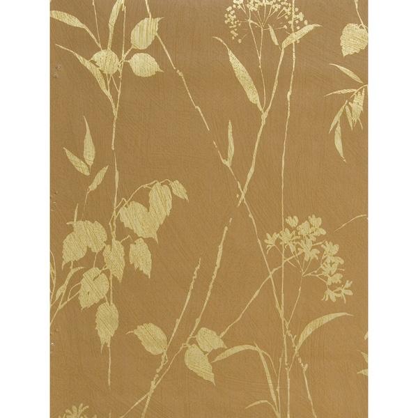 Brewster Orange Floral Wallpaper