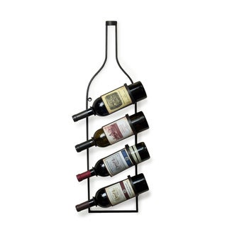 Wall Mount Four Bottle Wine Holder