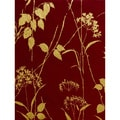Brewster Red/ Beige Floral Wallpaper