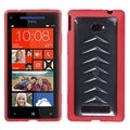 BasAcc Clear/ Solid Red Gummy Case for HTC Windows Phone 8X