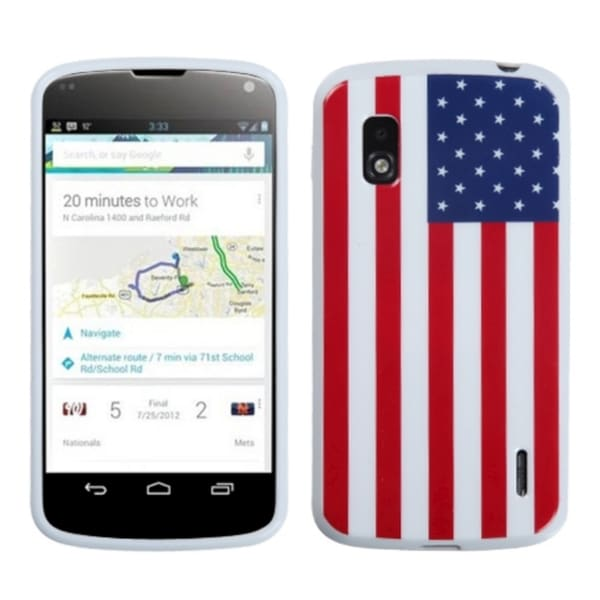 BasAcc United States National Flag Candy Skin Case for LG E960 Nexus 4